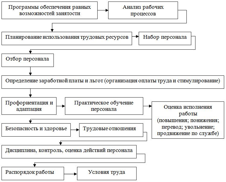 Этапы и направления управления персоналом